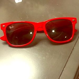 Red Ray-Ban Wayfarers 100% Authentic